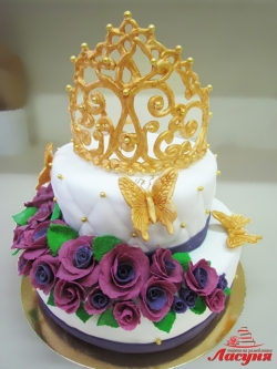 #п250(24) торт Корона для принцессы