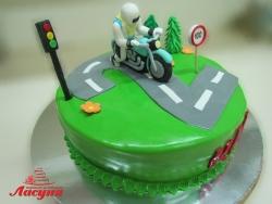 #д300(1) торт Мотоциклист на 2 годика