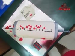 #п180(39) торт Шприц с исцеляющей любовью