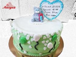 #д220(8) торт с мишкой на детский день рождения