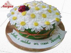 #п180(42) торт корзина ромашек