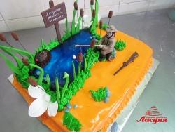 #п350 (1) торт для охотника и рыбака