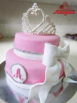 #д200(36) торт для девушки с короной и бантом