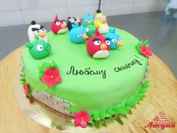 #д220(10) торт Angry Birds Злые Птички