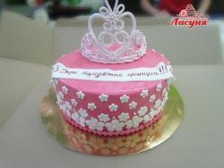 #д180(57) торт для маленькой принцессы, торт для девочки