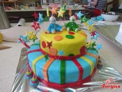 #д220(12) торт для близнецов и двойняшек на день рождения