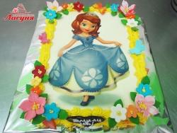 #д160(62) торт с фотопечатью Принцесса София