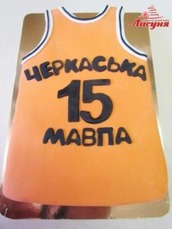"#д180(58) торт баскетбольная майка ""Черкаські Мавпи"""