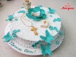 #д180(59) торт на крестины для девочки