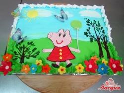 #д160(64) торт Свинка Пеппа | Peppa Pig cake