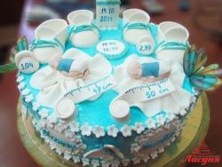 #д180(51) торт на 1 годик для близнецов
