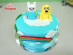 #д220(15) торт Время Приключений | Adventure Time cake