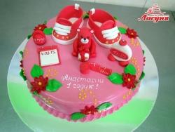 #д220(16) торт для девочки на 1 годик