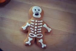#прян(4) пряник на Хеллоуин Скелет