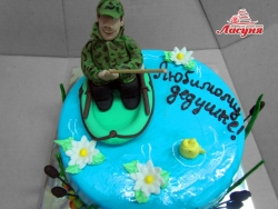 #п220(37) торт для Дедушки Рыбак