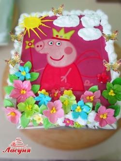 #д160(67) торт Свинка Пеппа | Peppa Pig cake