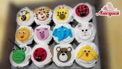 #кап34 Капкейки на детский день рождения с животными