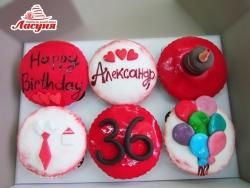 #кап35 капкейки на день рождения для мужчины