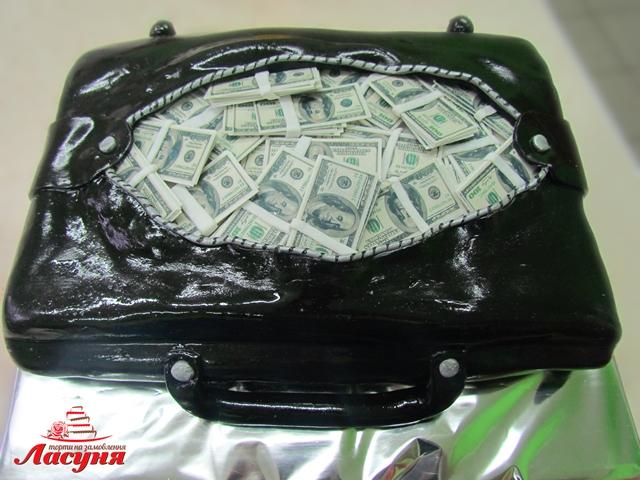 #п220(40) торт сумка с долларами