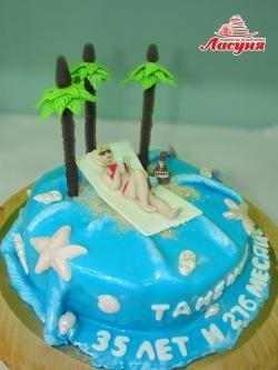 #п220(41) торт Тропический остров