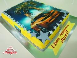 #д180(64) торт Трансформеры со съедобным фото