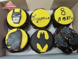 #кап37 капкейки Бэтмен | Batman cupcakes