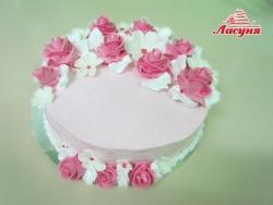 #п135(22) Нежный тортик с розочками для девушки